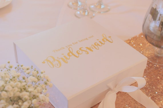 Luxury Wedding Gift Ideas: Bridesmaid Gift Box Personalised Luxury Gift Box Wedding