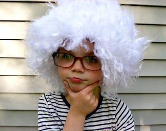 Einstein costume wig, Boys costume, Old Man costume, Mad Scientist, Boys Halloween, Halloween costume, Mens costume, Kids costume, Grandpa