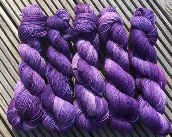 Hand Dyed 4ply Bluefaced Leciester