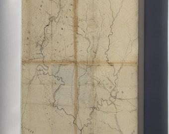 Canvas 24x36; Averill'S Map Of Western Virginia 1861