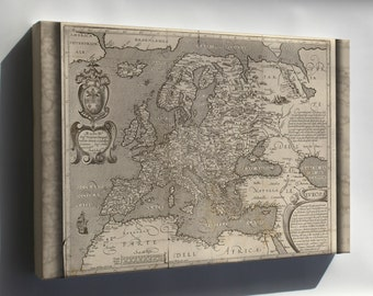 Canvas 24x36; Map Of Europe 1600 In Latin