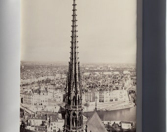 Canvas 24x36; Notre Dame, Paris, France 1859