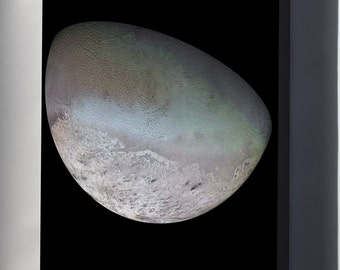 Canvas 24x36; Triton Moon Of Neptune Voyager 2
