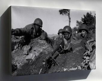 Canvas 16x24; M1919 Browning Machine Gun .30 Cal Korean War