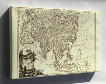 Canvas 16x24; Map Of Asia 1787 In Armenian