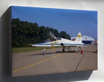 Canvas 16x24; Northrop T-38A Trainer Flew At Langley