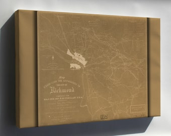 Canvas 16x24; Gen Mcclellans Map Of Richmond Virginia Area 1862
