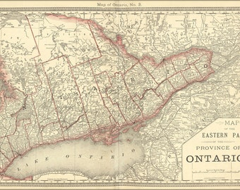 16x24 Poster; Map Of Eastern Ontario 1881