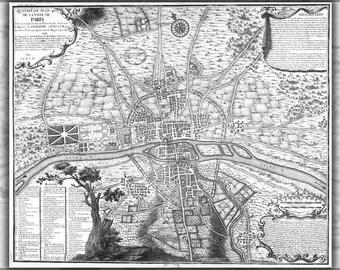 16x24 Poster; Map Of Paris France Circa 1223