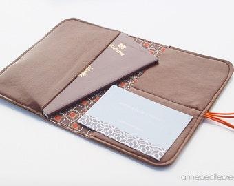 portefeuille cuir marron porte cartes simple, vintage homme, idée cadeau , cuir naturel, fait main 100% made in France