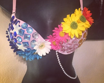 Sun and moon rave bra/rave outfit/EDC outfit/EDC bra