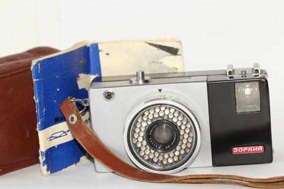 RARE camera ZORKI-12 AUTOMAT Helios-98 lens + case/manual N6801157