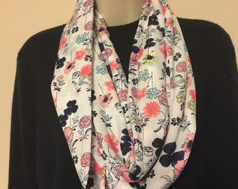 Beautiful floral infinity scarf