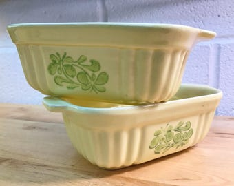 Loaf Pans  Pfaltzgraff Yellow Ceramic