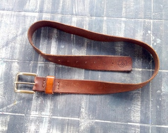 Toro Bull Leather Belt Made in Italy gift for him Valentine Handmade Handmade Leather Belt The Westlands