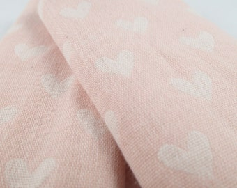 Double gauze stroller strap covers, baby girl gift, pink heart baby gift, car seat strap covers, strap pads