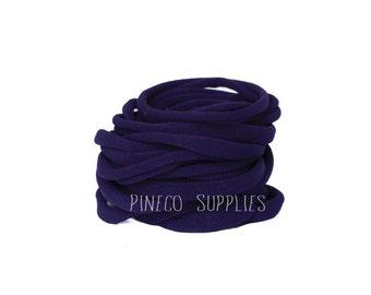 Wholesale Purple  Nylon Headband, bulk nylon, one size fits most, nylon elastic, baby nylon headband