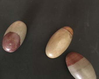 Natural Lingam Rocks from the Ganges River in India