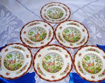 "Royal Albert CHELSEA BIRD Side Plate, 7"""