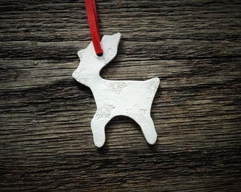 Reindeer Christmas ornament, Clay ornament, Christmas ornament, Christmas tree, Home decor, gift tag