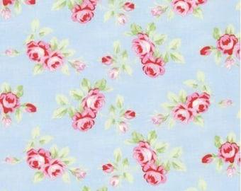 Free Spirit - Tanya Whelan - Rambling Roses - PWTW131.Sky - Rosebuds - Westminster Fibers - Pink- Blue - Sky - Floral - Flowers - Spring