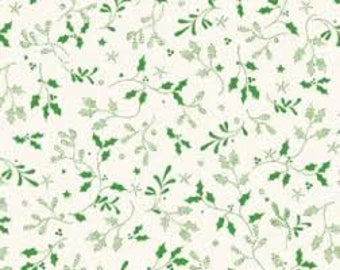 Red Rooster - Christmas Bells  - 26106-Gre1 - Jennifer Chiaverini - Holly - Mistletoe - Green - Christmas - Holiday - Winter - One More Yard