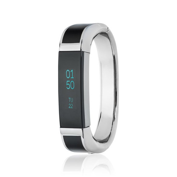 Bangle ARTEMIS - for Fitbit Alta - Alta HR - Jewelry -Stainless Steel & Black Enamel - more colors available