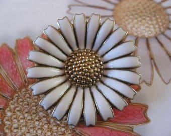 Anton Michelsen /Georg Jensen Marguerite Brooches National flower of Denmark Vintage Danish Design