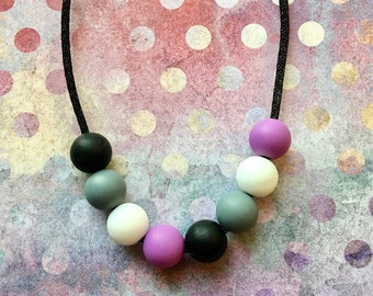 Asexual Flag Stim Chew Necklace
