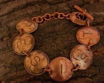 Resist penny bracelet