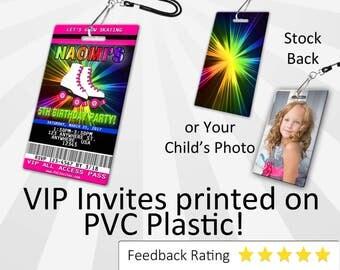 Roller skate Invitation PLASTIC Roller skate, Roller skate Invitation, Birthday Invitation, Birthday Invite Roller skate Birthday SKU-INV230
