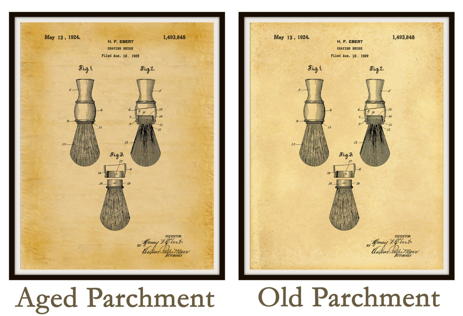 Barber Shop Wall Art. Barber Pole Poster Patent Print Gift Barber ...