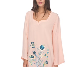 SCT051 - Hand embroidered silk tunic