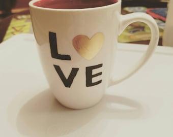 Handpainted Love Coffee Mug