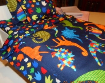 Custom Bedding - Bedrock - Dinosaurs
