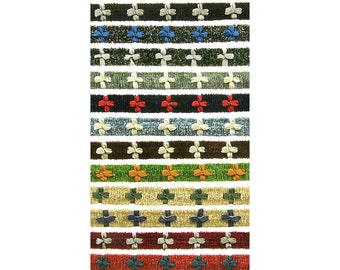 "1/2"" (13mm) French Chenille Rococo Braid Ribbon 3799 BTY"