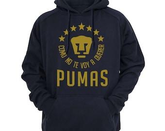 PUMAS UNAM Hooded Sweatshirt Hoodie Hoody Sudadera Mexico Liga MX