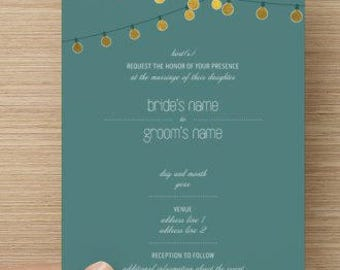 String Light Wedding Invitation