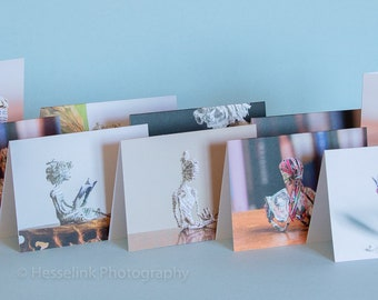 Book Sculpture Greeting Cards, Selection of 10
