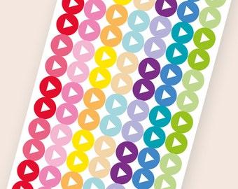 112 tiny dot stickers, arrow round stickers, circle stickers, planner stickers, scrapbook sticker, reminder checklist sticker