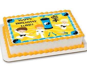 Karate edible cake toppers, karate edible cake image, karate edible cake topper, karate party, karate cupcakes, karate cupcake toppers