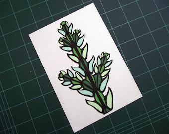 A4 Hand Cut Plant Life #1 Botanical Paper Cut