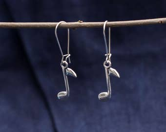 Earrings with touch in silver