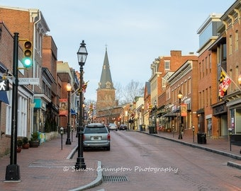 Main Street Annapolis - Maryland - Fine Art Print - Landscape