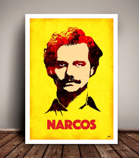 Narcos // Pablo Escobar // Netflix // TV Poster // Unique A4 / A3 Art Print