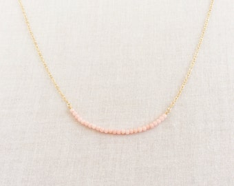 Pink Coral Necklace - Pink Bridesmaid Necklace - Coral Jewelry - Coral Necklace - Tiny Coral Necklace - Tiny Pink Coral Necklace - Pink