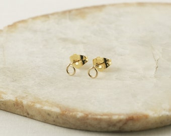 Tiny Circle Earrings - Small Circle Earrings - Tiny Stud Earrings - 14k Gold Stud Earrings - Stud Earrings Gold - Ear Studs - Circle Studs