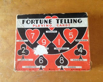 Vintage 1936 Fortune Telling playing cards Tarot