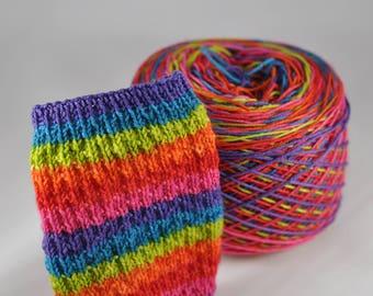 Hand Dyed Self Striping Yarn - Valley Girl