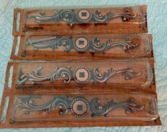 Four Copper Backplates made by Amerock T-702